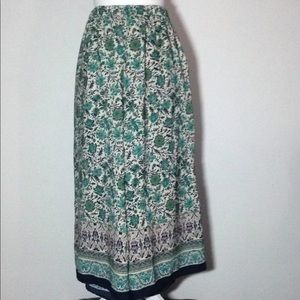 Forever 21 Floral Palazzo Pants 100% Polyester- M